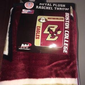 Boston College- Royal Plush Raschel Throw Blanket